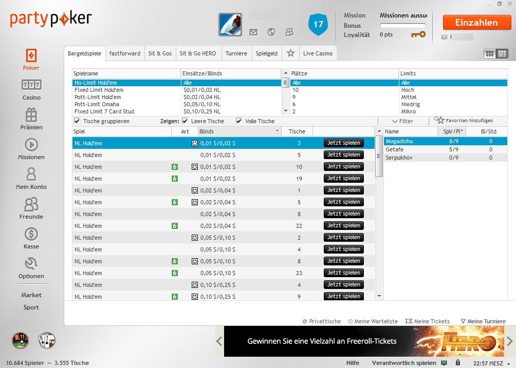 Party Poker Desktop Software