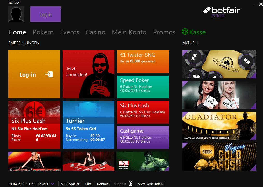 Betfair Poker Software